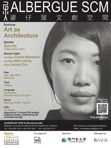 """Art as Architecture"" / Data Image Source: ALBERGUE SCM /ALBcreativeLAB"