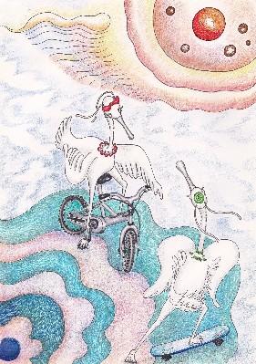 Happy Egrets : Story scene design1 / 2016 LiLi